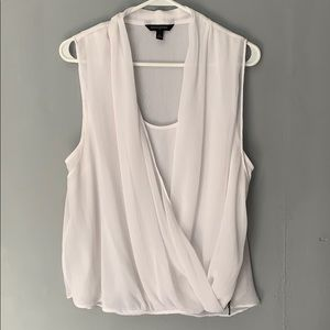 Banana Republic White Sleeveless Blouse